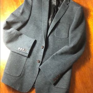Lined, single vented casual knit blazer